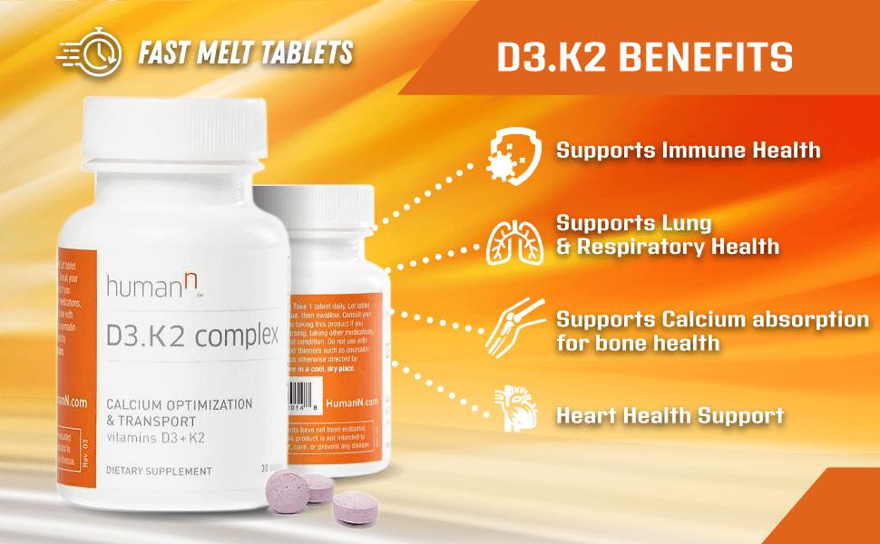 Benefits of D3.K2